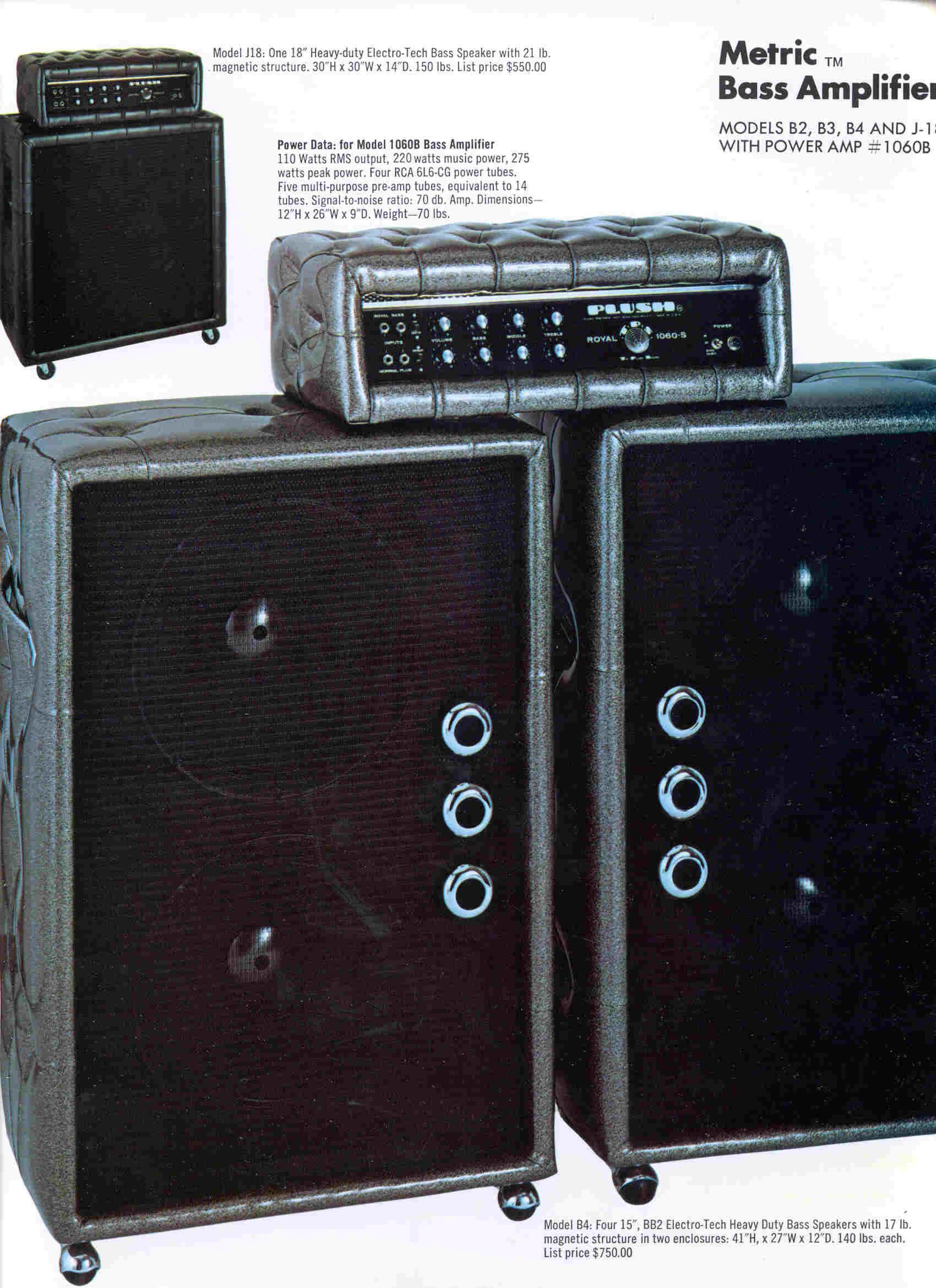 plush royal 1060 s 100watt tube 1970 black amp for sale hendrix guitars. Black Bedroom Furniture Sets. Home Design Ideas